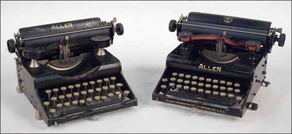 201: TWO ALLEN TYPEWRITERS.