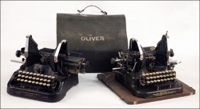 TWO OLIVER TYPEWRITERS.
