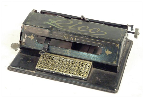 261: RICO TINPLATE TOY TYPEWRITER.