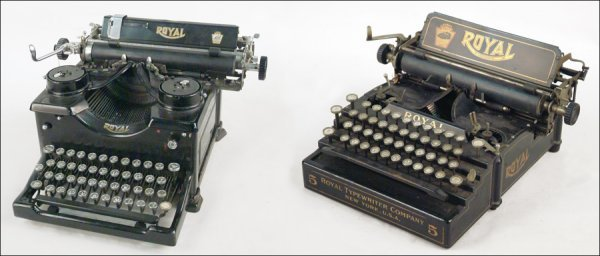 264: TWO ROYAL TYPEWRITERS.