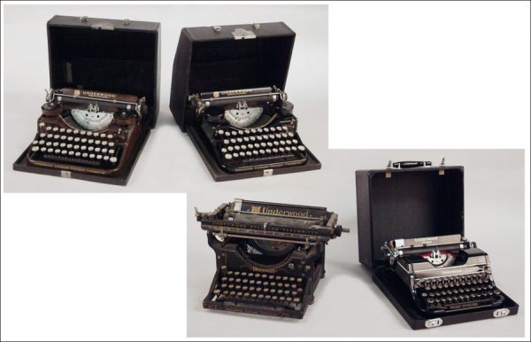 272: FOUR UNDERWOOD TYPEWRITERS.
