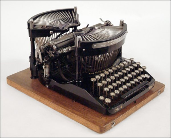 276: WILLIAMS NO. 6 TYPEWRITER.