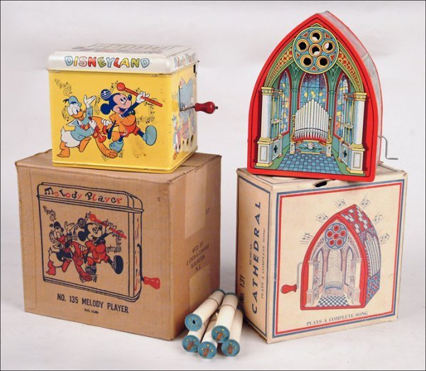 108: TWO BOXED CHEIN MUSICAL TOYS.