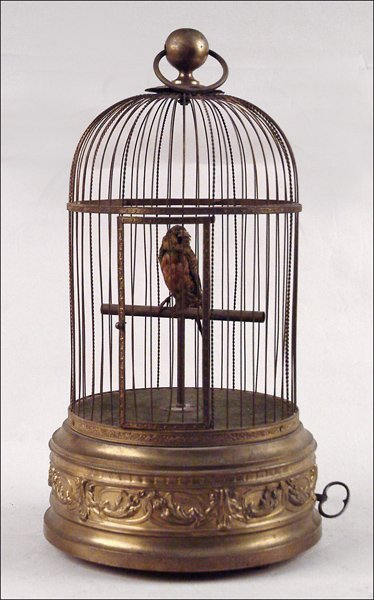 126A: LARGE SINGING BIRD CAGE.