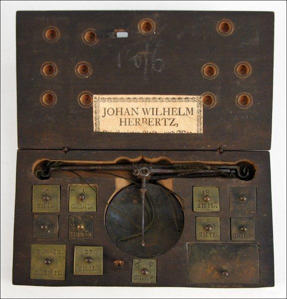 101: COIN BALANCE BY JOHAN WILHELM HERBERTZ.
