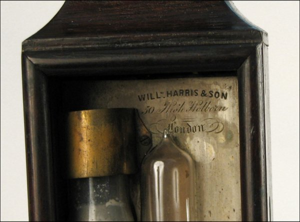 109: PORTABLE BAROMETER BY WILLIAM HARRIS & SON, LONDON - 2