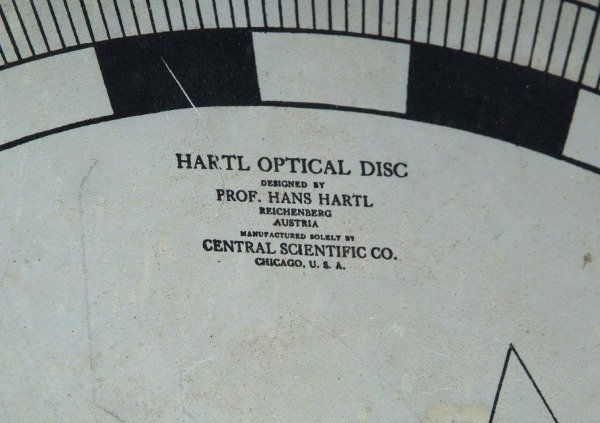 7002628: HARTL OPTICAL DISC BY CENTRAL SCIENTIFIC, CHIC