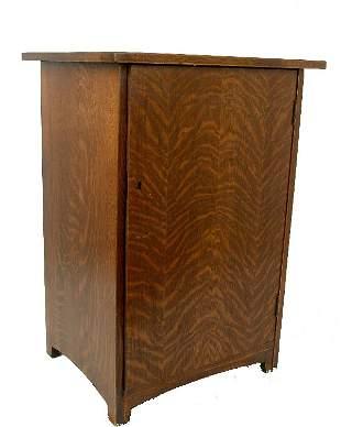 Oak Record Cabinet,