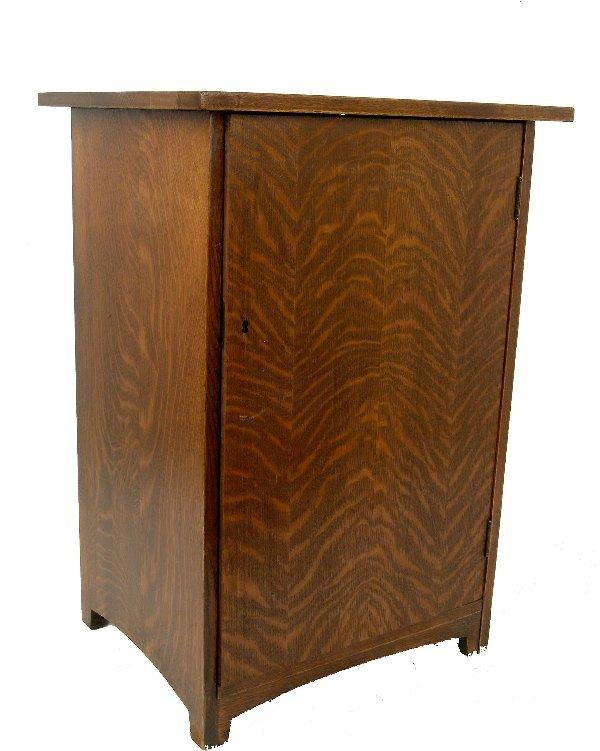 5: Oak Record Cabinet,