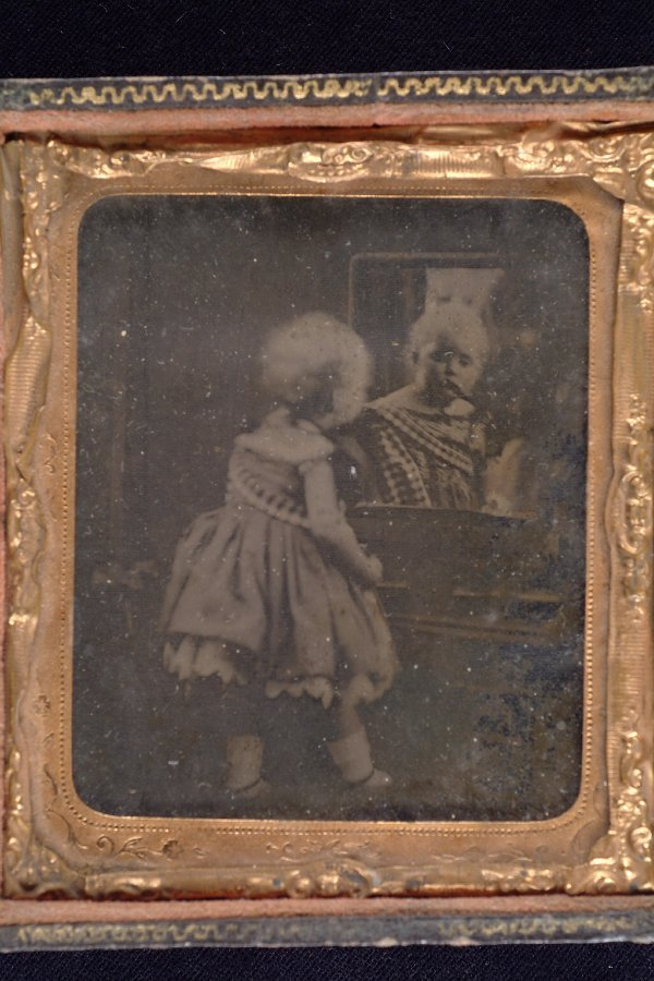 304: Ambrotype of a Toddler and Mirror,