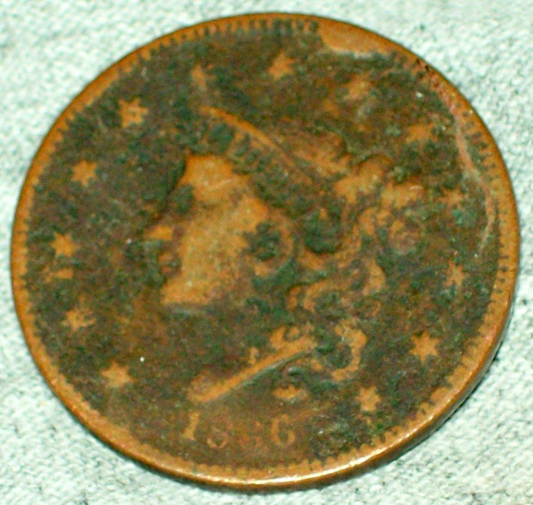 1836 Coronet / Matron Head 1 Cent