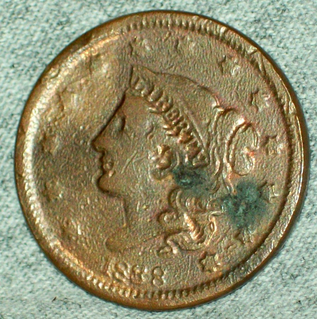 1838 Coronet Head Large Cent