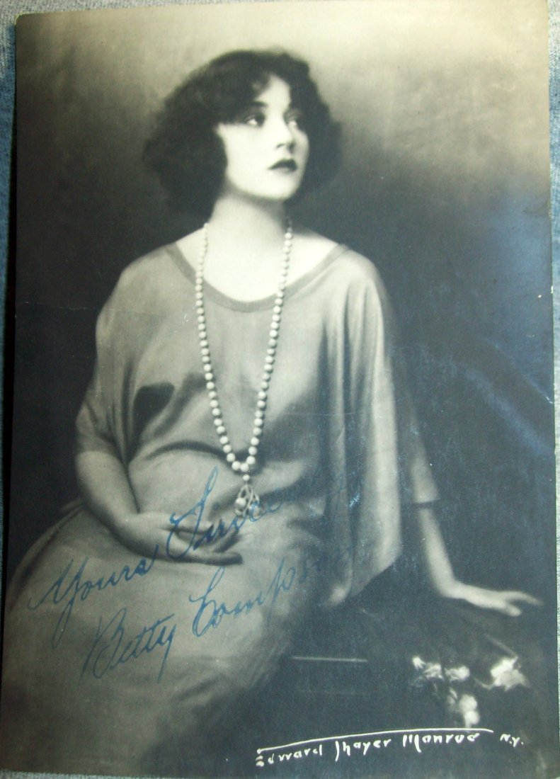 Silent Film Star BETTY COMPSON Signed Photo 7 x 5