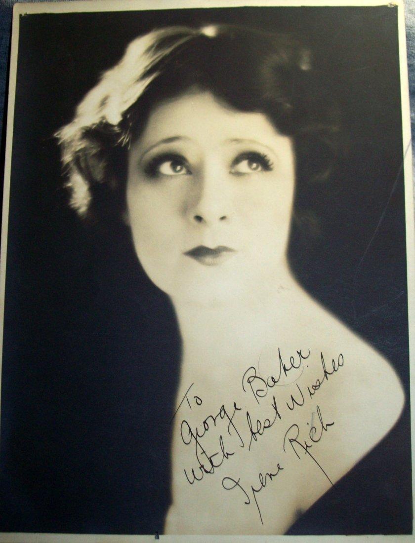 Silent Film Star IRENE RICH Signed Photo 8 X 6