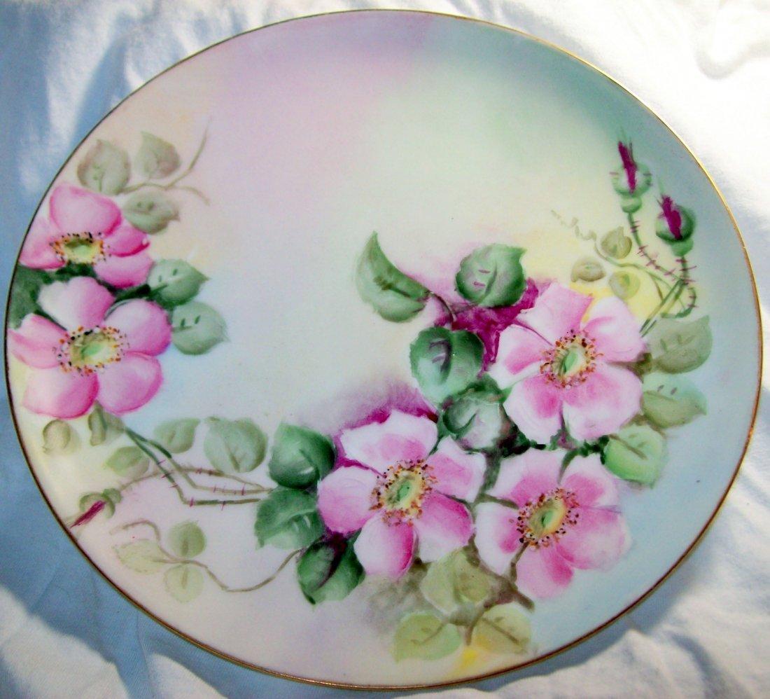 Haviland France Pink Flowering Vine 8.5 inch Plate