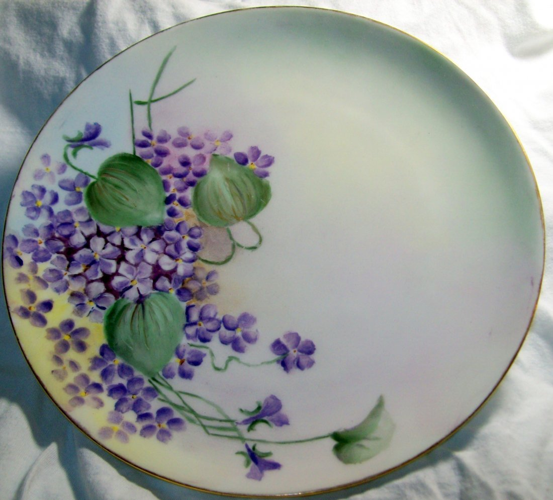 Haviland France Purple Clematis  8.5 inch Plate
