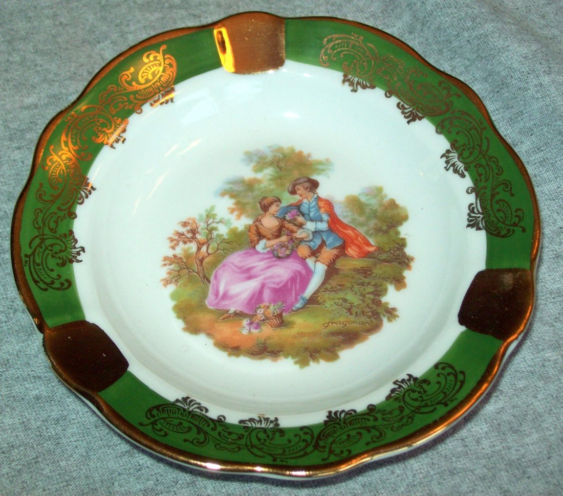 Limoge France Courting Couple Ashtray