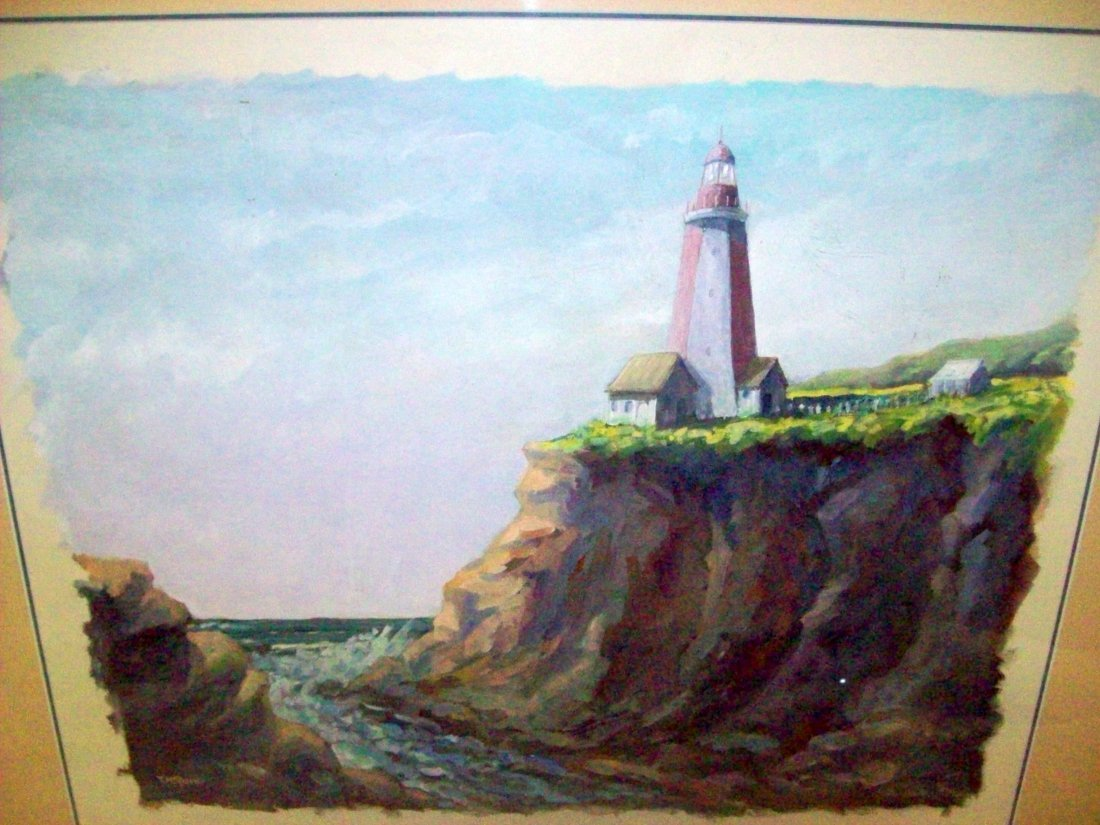 Theodore H  Reamer Lighthouse Painting - Aug 10, 2014 | The