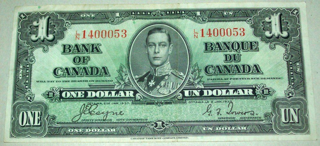 1937 $1 Canada Canadian Dollar Coyne Towers F1937 $1