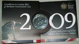2009 Royal Mint London 2012 Olympic Games Countdown BU