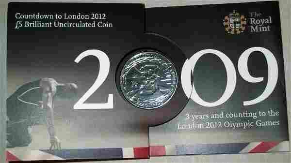 2009 Royal Mint London 2012 Olympic Games Countdown BU