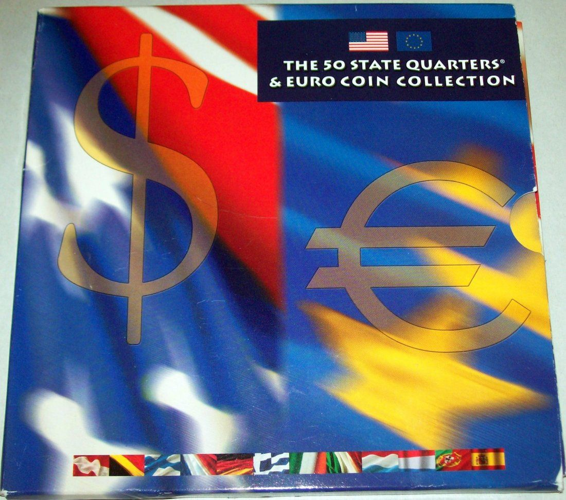 2002 The 50 State Quarters & Euro Coin Collection