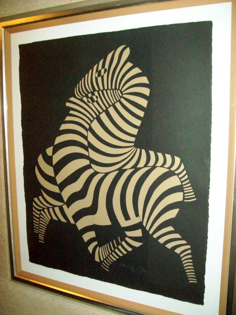 "Victor Vasarely ""TSIKOS-A"" Signed Limited Edition Print"
