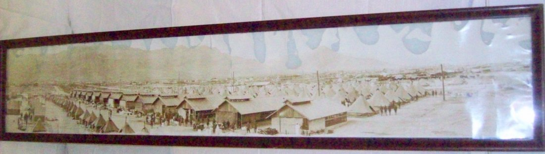 4th Ohio Infantry Camp Pershing Panoramic Photo, El