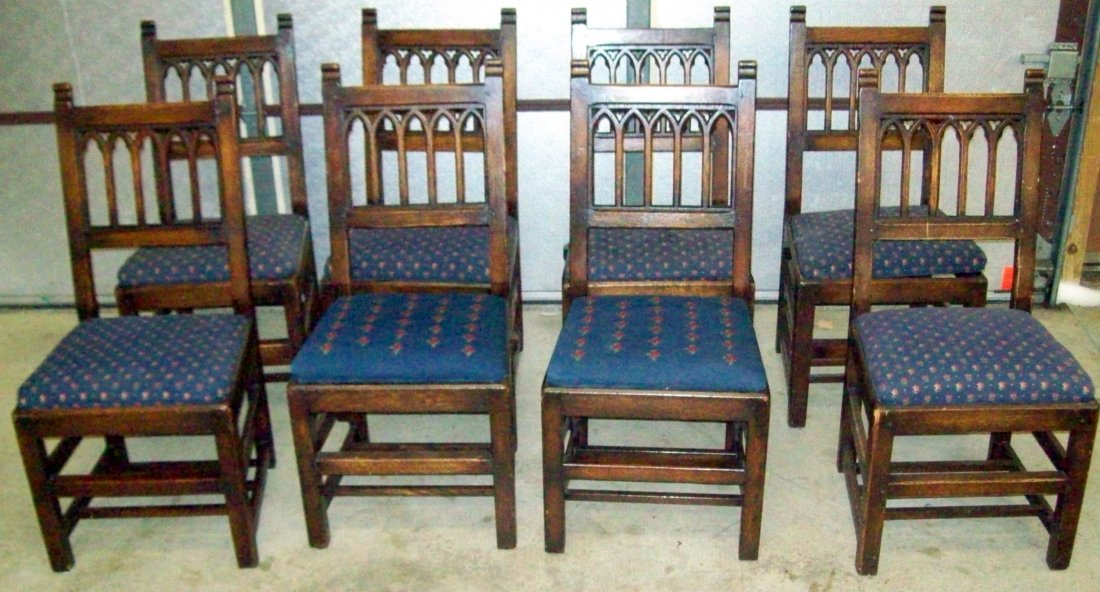 (8) Pew Chairs Rockefeller Riverside Church New York