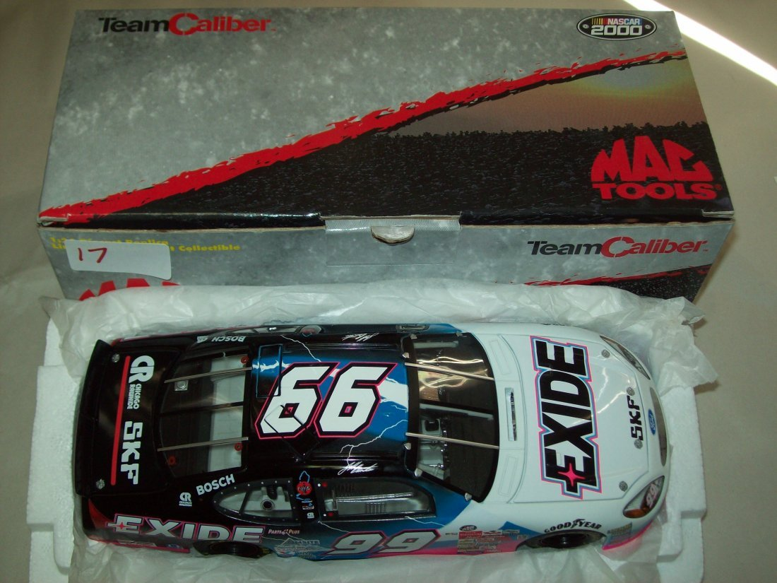 MAC TOOLS 2000 Exide Ford Taurus Jeff Burton 1/24 Scale