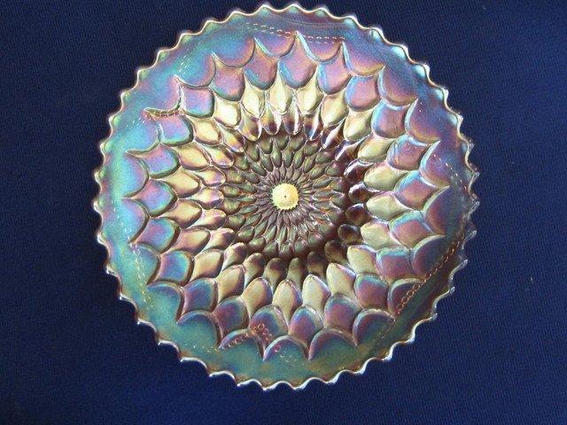Dugan Fishscale & Beads Marigold Electric Plate
