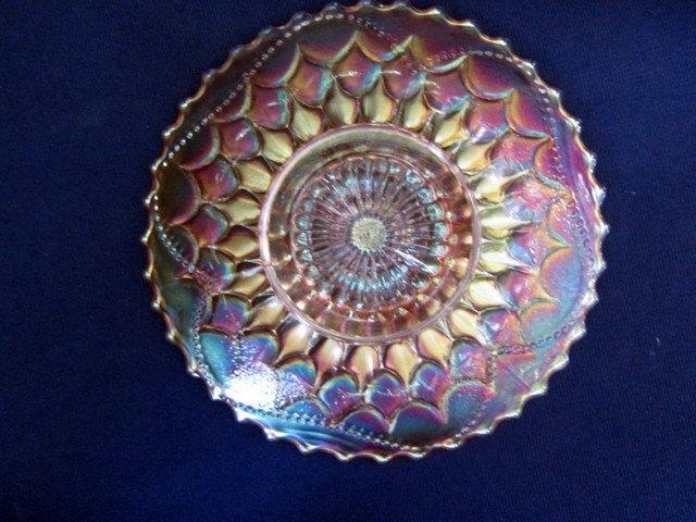 Dugan Fishscale & Beads Marigold Electric Plate - 2
