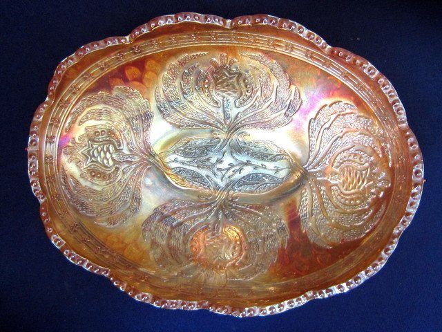Fenton Lotus & Grape Marigold Bowl