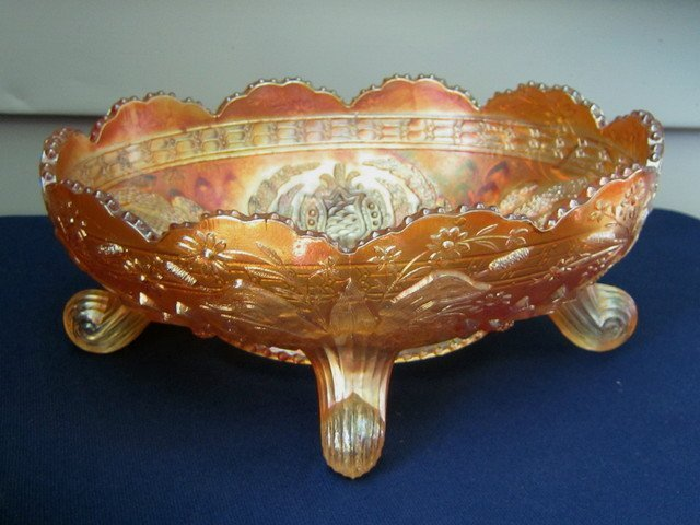 Fenton Lotus & Grape Marigold Bowl - 2