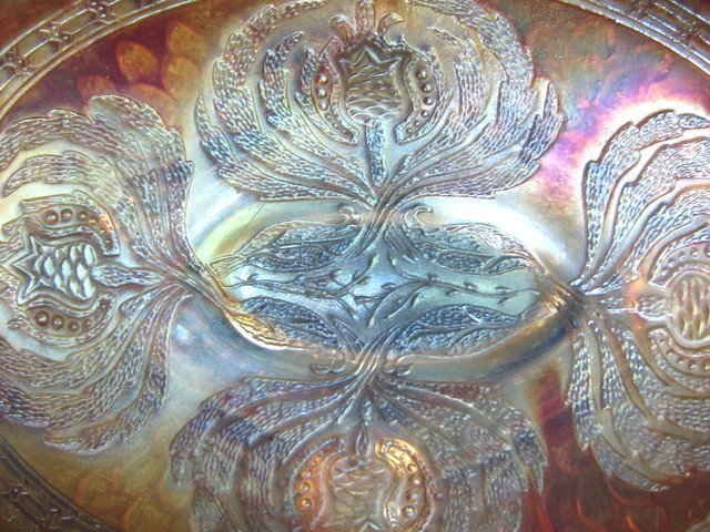 Fenton Lotus & Grape Marigold Bowl - 4