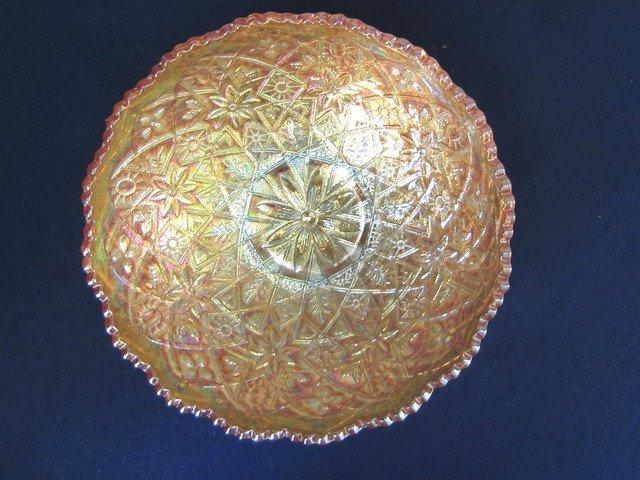 Imperial Hattie Deep Marigold 8 inch Round Bowl