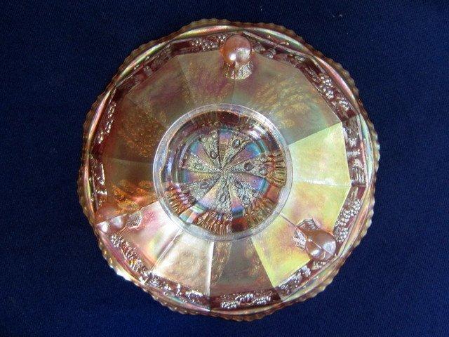 Fenton Fantail Marigold 9 inch Ball Footed Bowl - 2