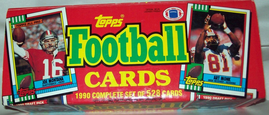 Topps Football Cards 1990 Complete Set 528 Cards W/Box