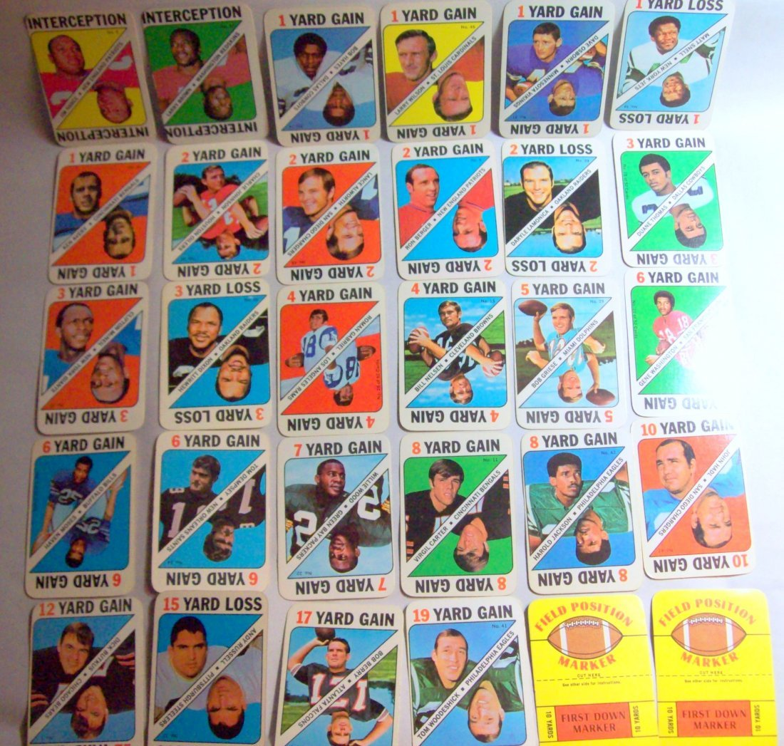 1971 TOPPS FOOTBALL GAME INSERT PARTIAL SET 30 of 52