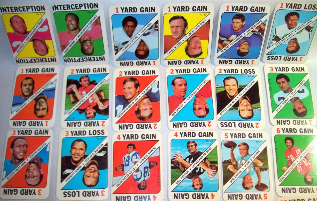 1971 TOPPS FOOTBALL GAME INSERT PARTIAL SET 30 of 52 - 2