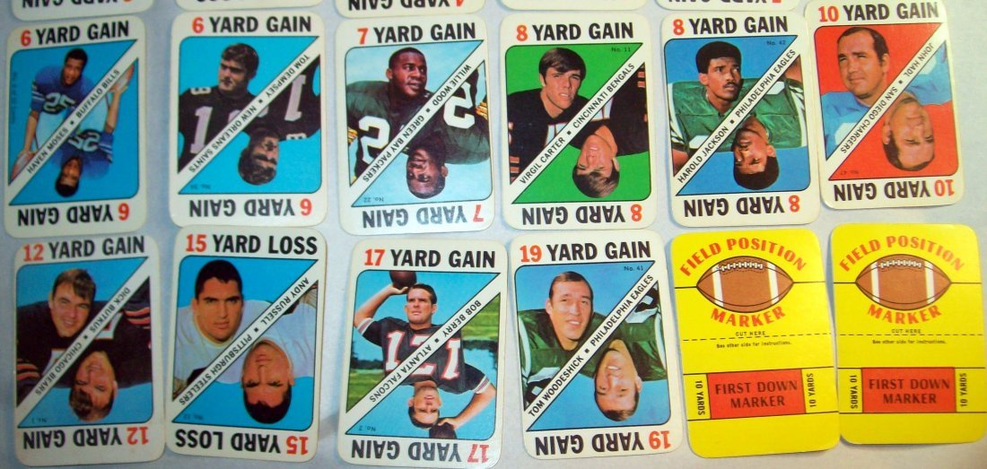 1971 TOPPS FOOTBALL GAME INSERT PARTIAL SET 30 of 52 - 3