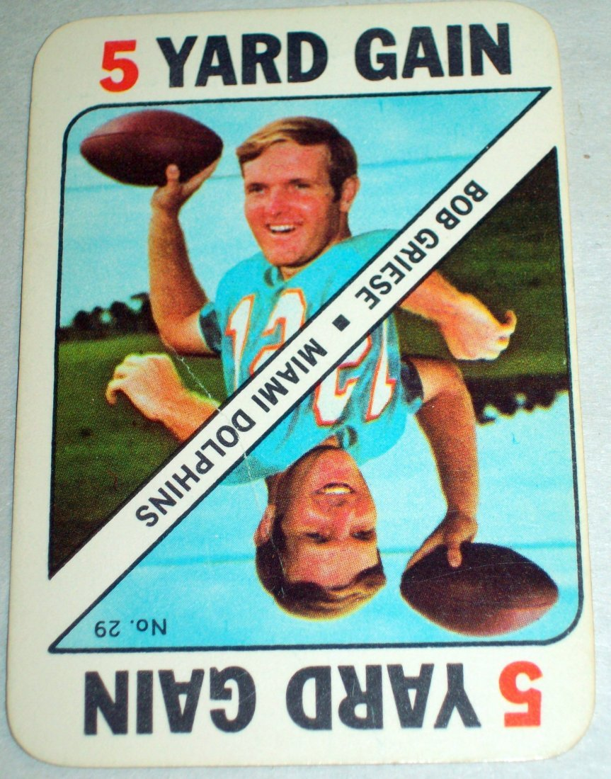1971 TOPPS FOOTBALL GAME INSERT PARTIAL SET 30 of 52 - 4