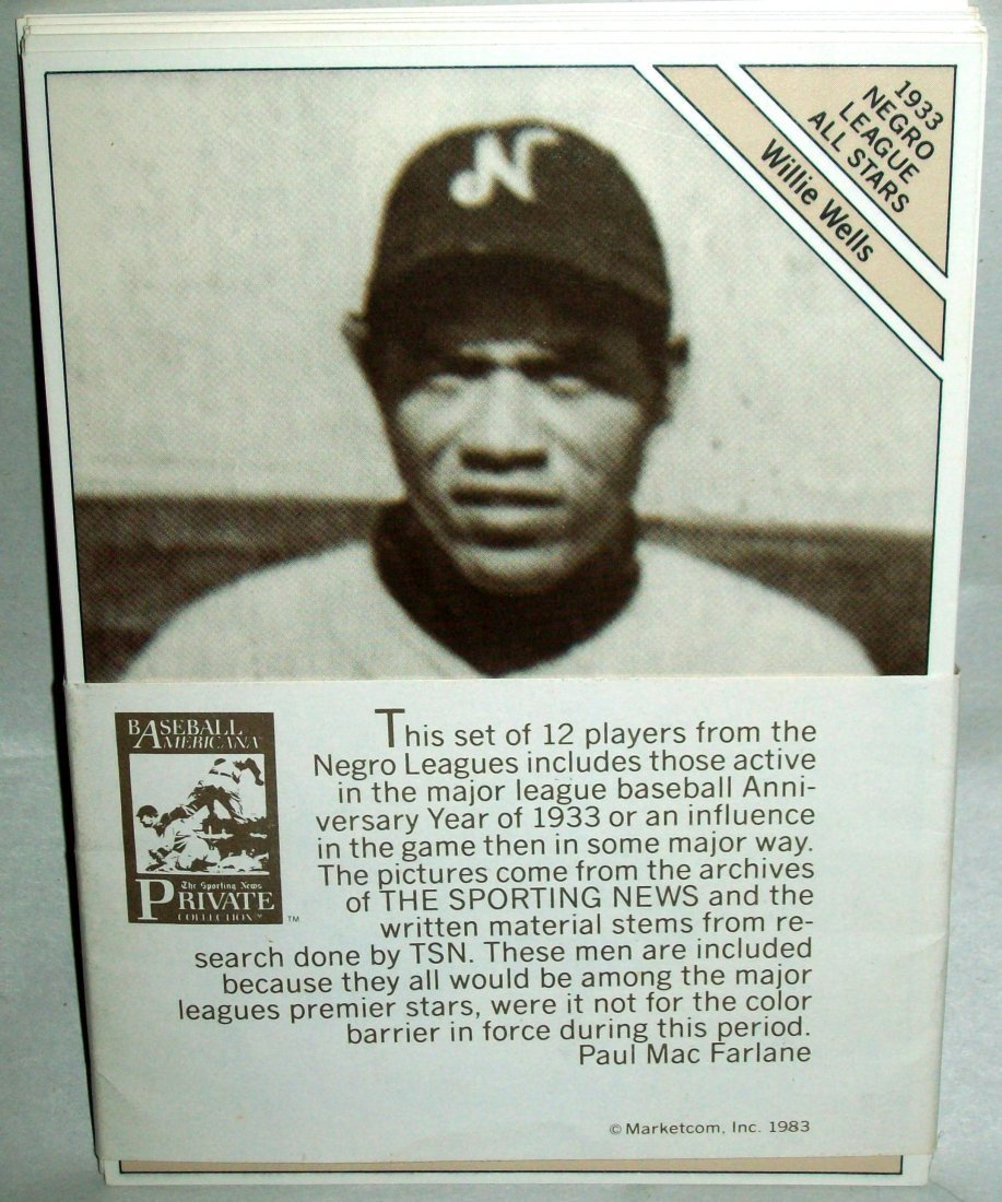 1933 Giant Size  Negro League All-Stars (12) Cards