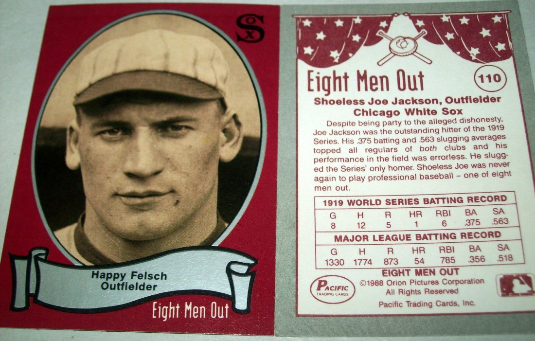 1988 Pacific Eight Men Out Trading Card Set 110 Cards - 2