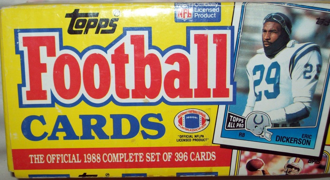 1988 Topps Football Set Complete With Box