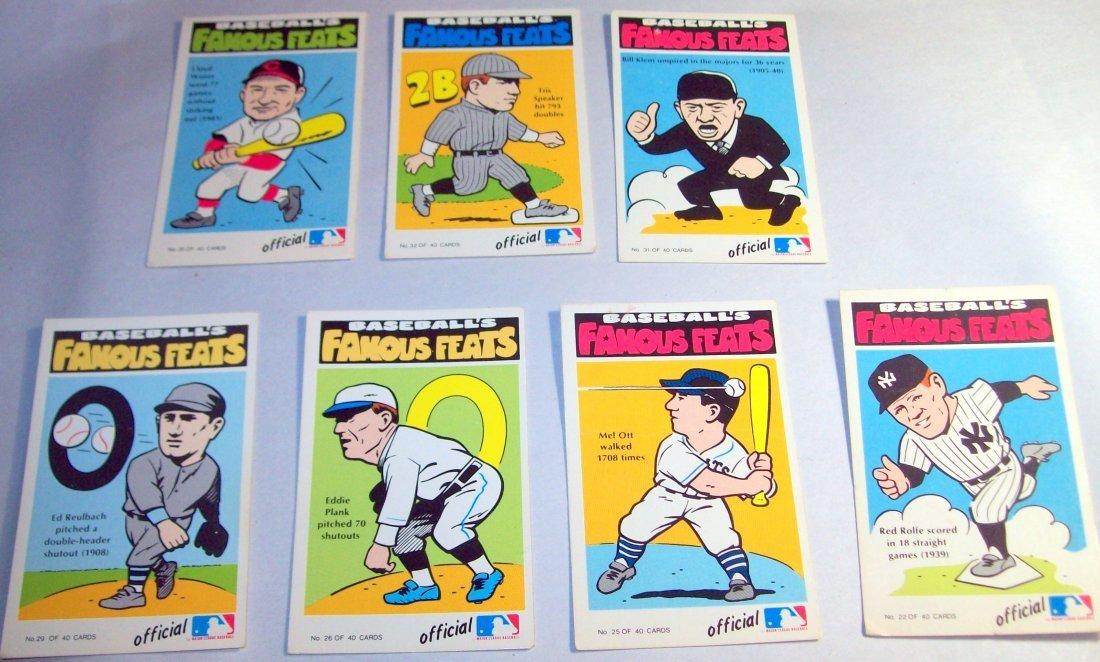 Lot of (7)1972 Fleer Baseball's Famous Feats