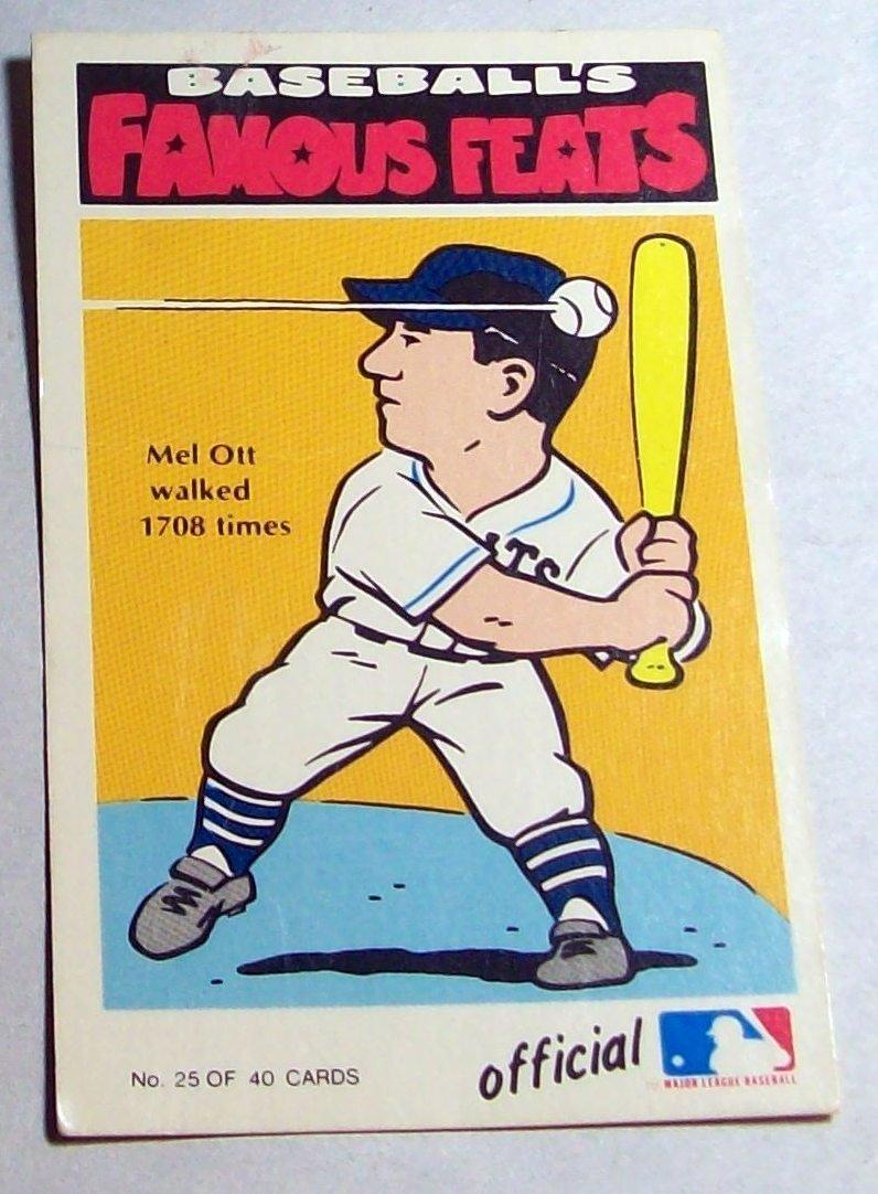 Lot of (7)1972 Fleer Baseball's Famous Feats - 3