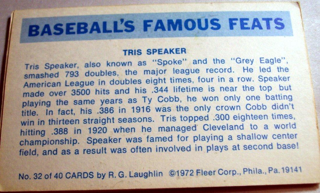 Lot of (7)1972 Fleer Baseball's Famous Feats - 4