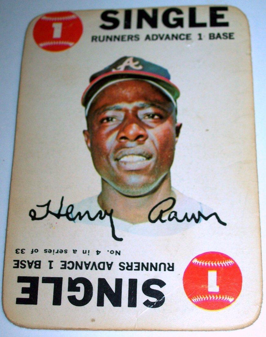 1968 Topps Baseball Game #4 Henry Hank Aaron SINGLE
