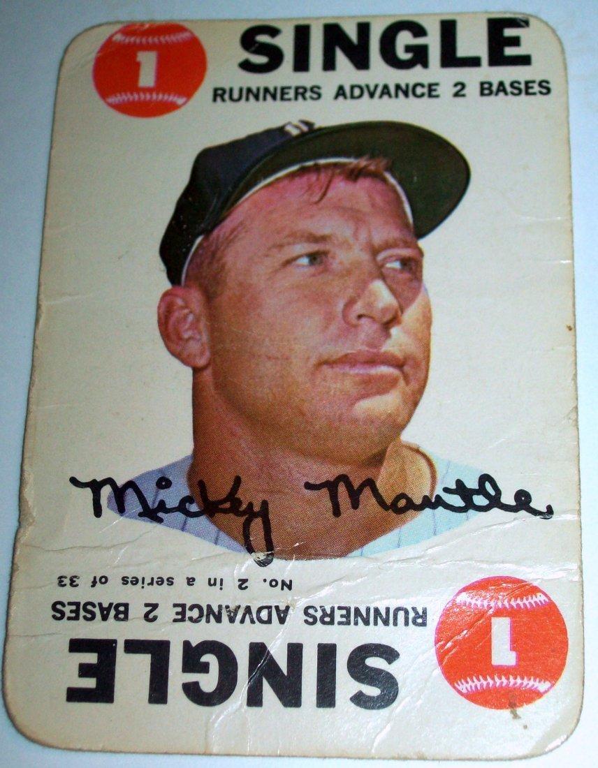1968 Topps Baseball Game #2 Mickey Mantle SINGLE